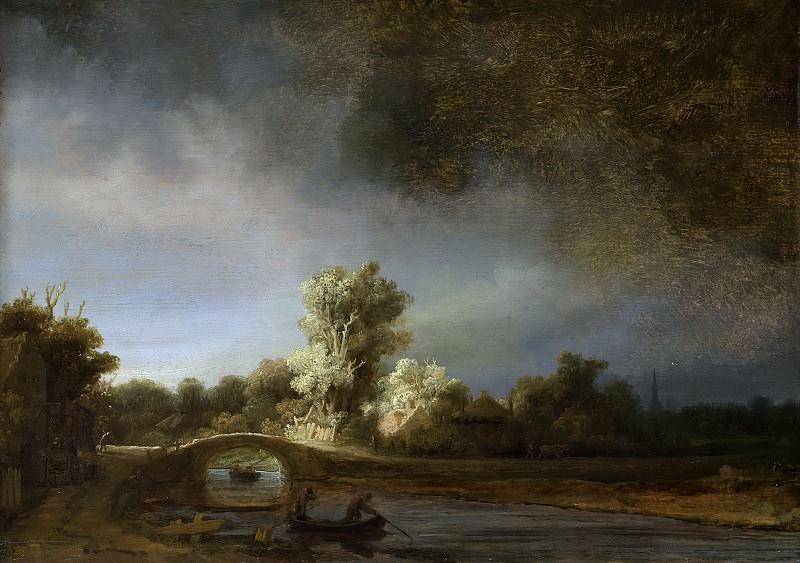 Харменс ван Рейн Рембрандт -- Каменный мост, 1638. Рейксмузеум: часть 2