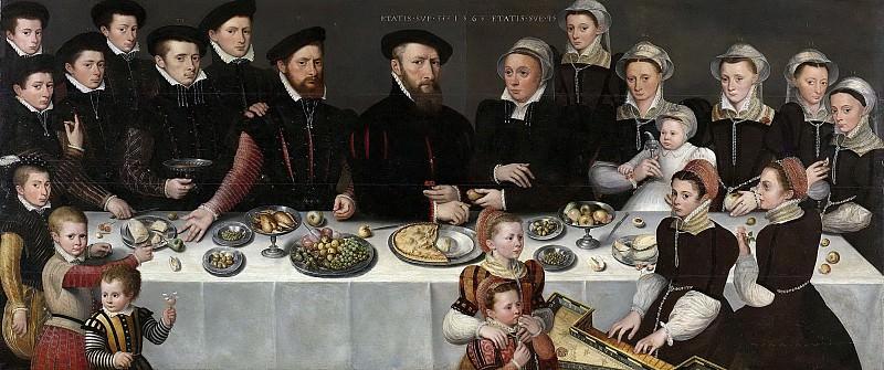 Неизестный художник -- Пьер де Мушерон (1508-67), купец, торгующий в Мидделбурге и Антверпене, 1563. Рейксмузеум: часть 2