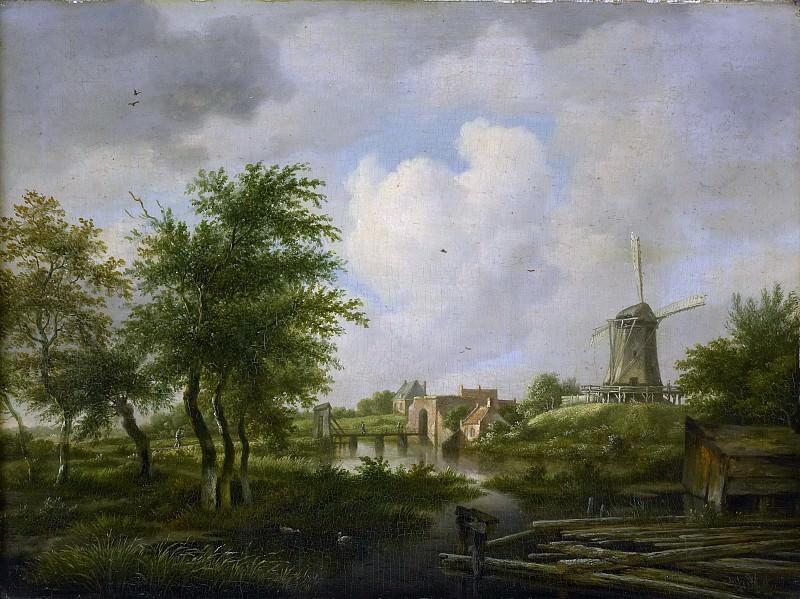 Ян Хюльсвит -- Городские ворота, 1807. Рейксмузеум: часть 2