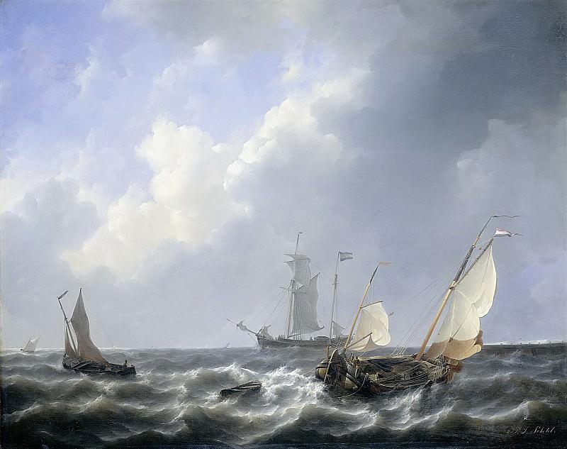 Schotel, Petrus Johannes -- De zeeuwse wateren bij Schouwen, 1825-1827. Rijksmuseum: part 2