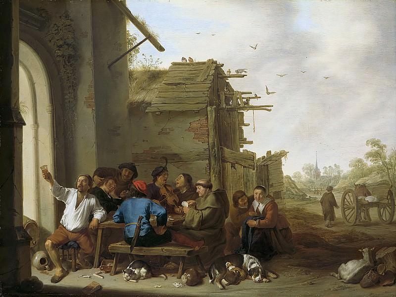 Корнелис Сафтлевен -- Компания крестьян, 1642. Рейксмузеум: часть 2