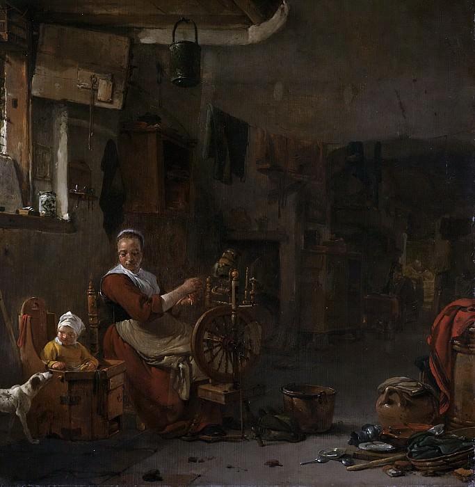 Томас Вейк -- Крестьянка за прялкой, 1640-77. Рейксмузеум: часть 2