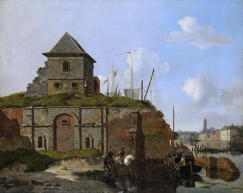 Карел Якоб Бер -- Городской вал с пороховым складом, 1830. Рейксмузеум: часть 2
