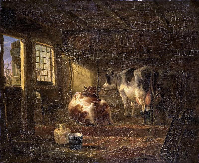 Ян Кобелл (III) -- Коровы в хлеву, 1828-1830. Рейксмузеум: часть 2