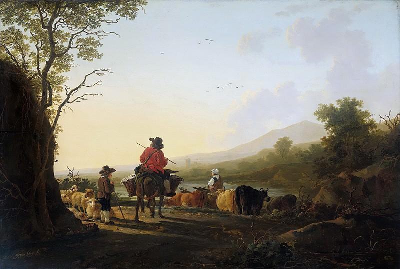 Strij, Jacob van -- Landschap met veedrijver en schaapherder, 1800-1815. Rijksmuseum: part 2
