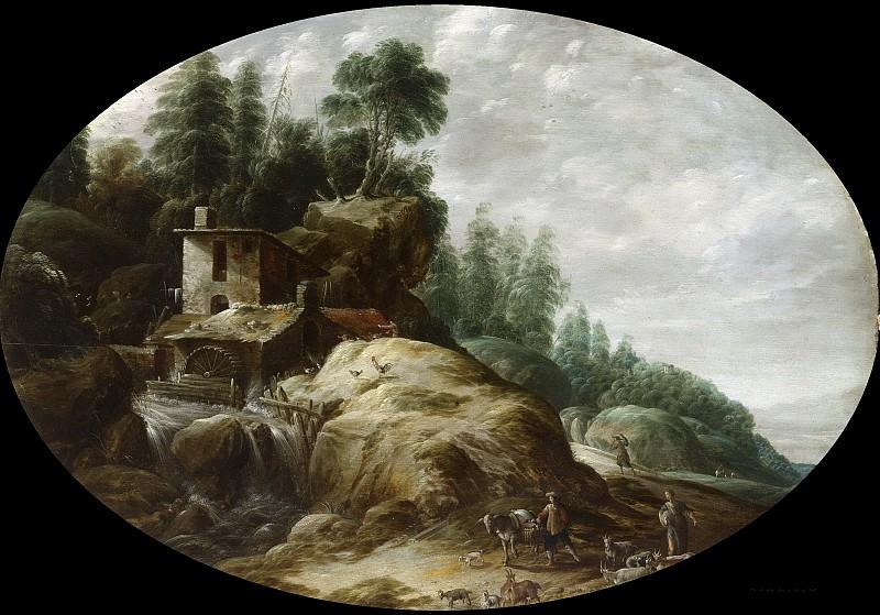 Гиллис Петерс (I) -- Пейзаж и водяная мельница, 1633. Рейксмузеум: часть 2