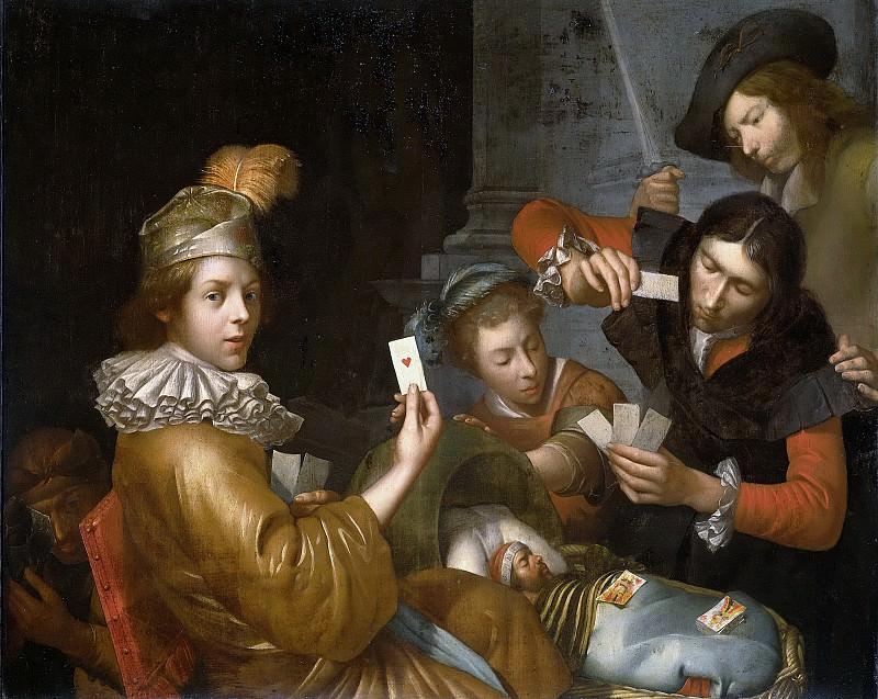 Йоханнес ван Вейкерслот -- Игра в карты на колыбель, аллегория, 1643-1683. Рейксмузеум: часть 2