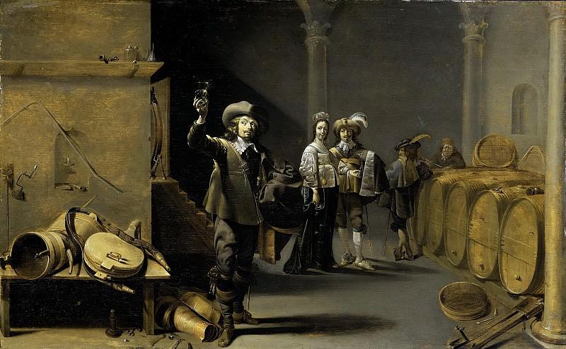 Duck, Jacob -- De wijnproevers, 1640-1642. Rijksmuseum: part 2