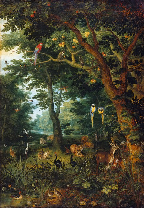 The Paradise. Jan Brueghel the Younger