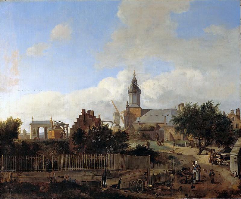Jan van der Heyden (1637-1712) - Street outside the Haarlem gate in Amsterdam. Part 3