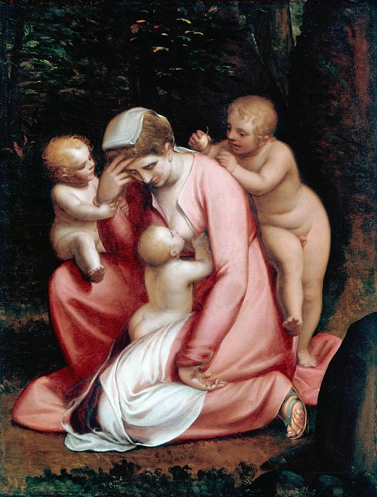Luca Cambiaso (1527-1585) - Charity. Part 3