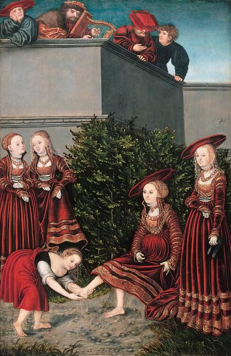 Lucas Cranach I (1472-1553) - David and Bathsheba. Part 3