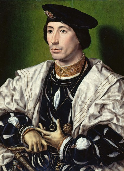 Jan Gossaert (c.1480-1530s) - Portrait of a nobleman. Part 3