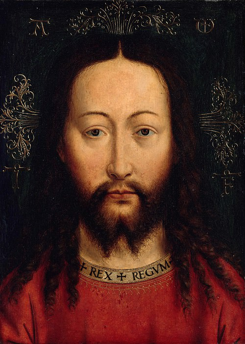 Jan van Eyck (c.1390-1441) - Face of Christ. Part 3