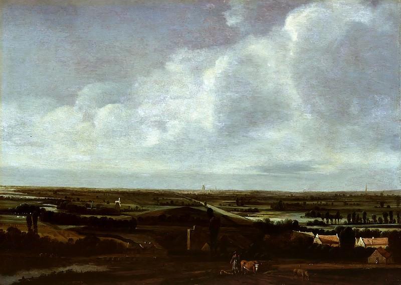 Joris van der Haagen (c.1615-1669) - Landscape with city in the distance. Part 3