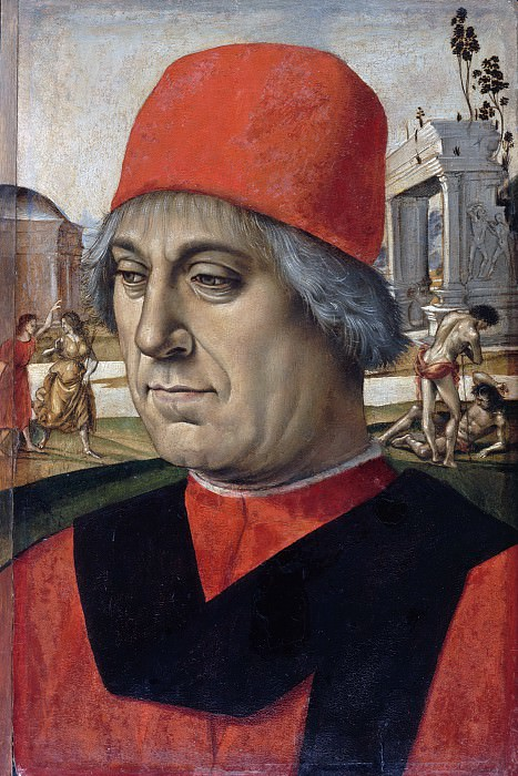 Luca Signorelli (c.1445-1523) - Portrait of an older man. Part 3