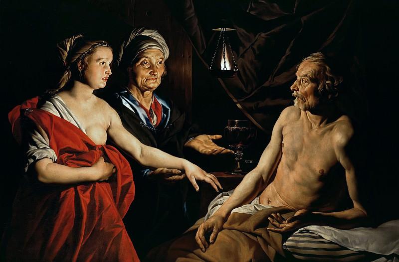 Matthias Stom (c.1600-c.1652) - Sarah leads Abraham Hagar. Part 3