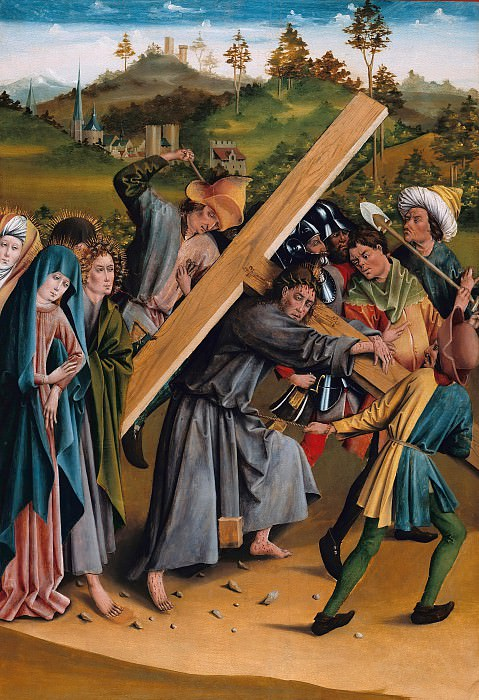 Johann Koerbecke (c.1420-1490) - Carrying the Cross. Part 3