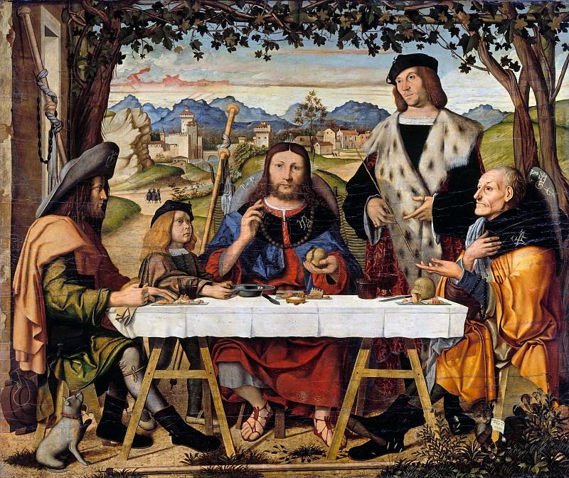 Marco Marziale (c.1440-1507) - Christ at Emmaus. Part 3