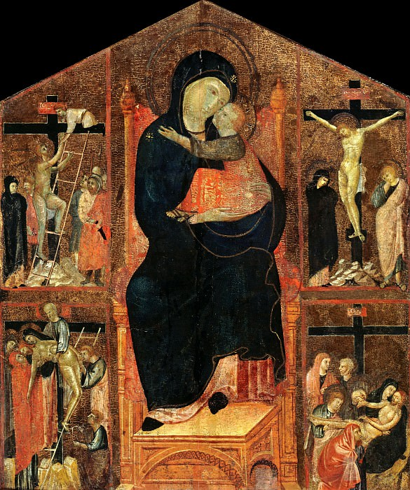 Master of San Gaggio - Enthroned Madonna with Child and Scenes from the Passion of Christ. Part 3