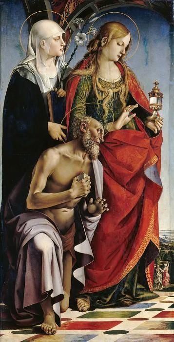Синьорелли, Лука (ок1445-1523) - Святые Евстахий, Мария Магдалина и Иероним. Часть 3