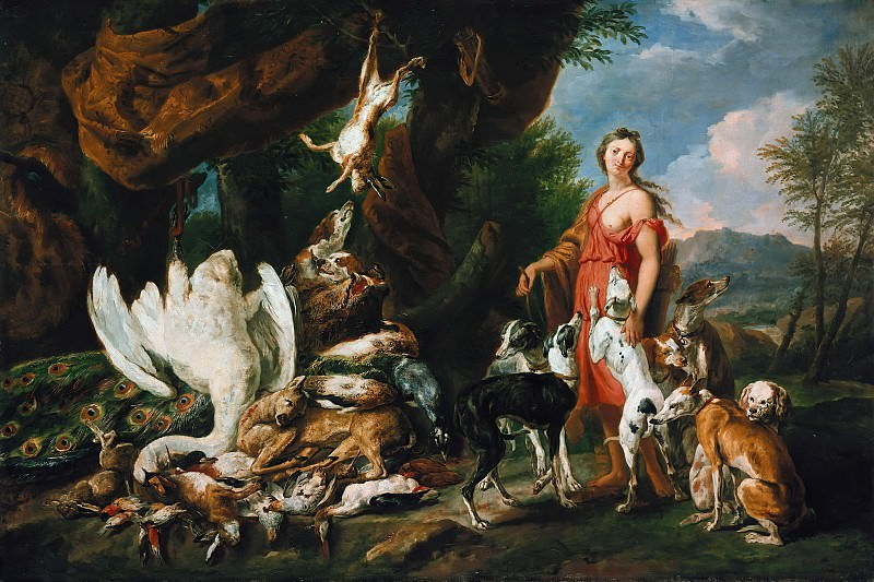 Jan Fyt (1611-1661) - Diana with her dogs beside dead game. Part 3