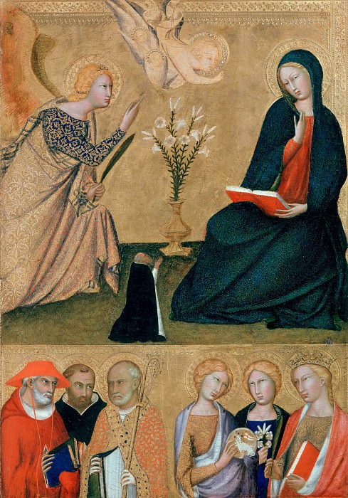 Lippo Memmi (after1290-1356) - Annunciation and six saints. Part 3