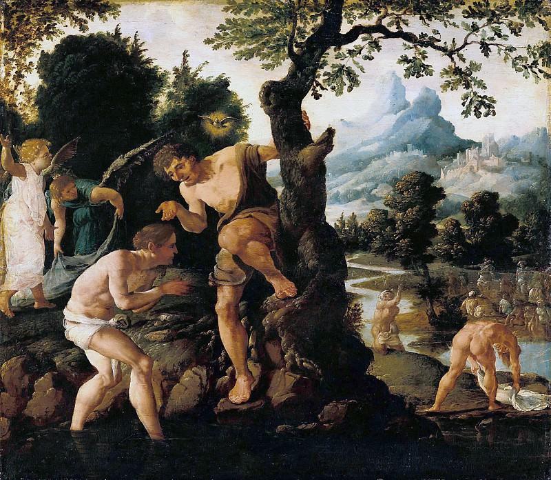 Хемскерк, Мартин ван (1498-1574) - Крещение Христа. Часть 3