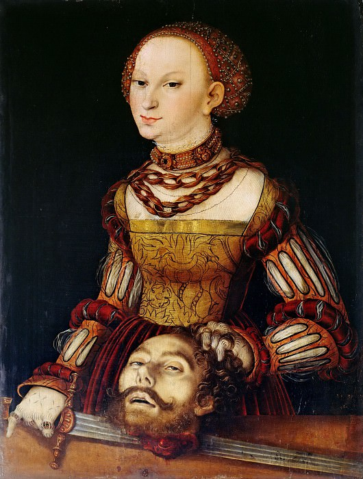 Lucas Cranach I (1472-1553) - Judith with the Head of Holofernes. Part 3