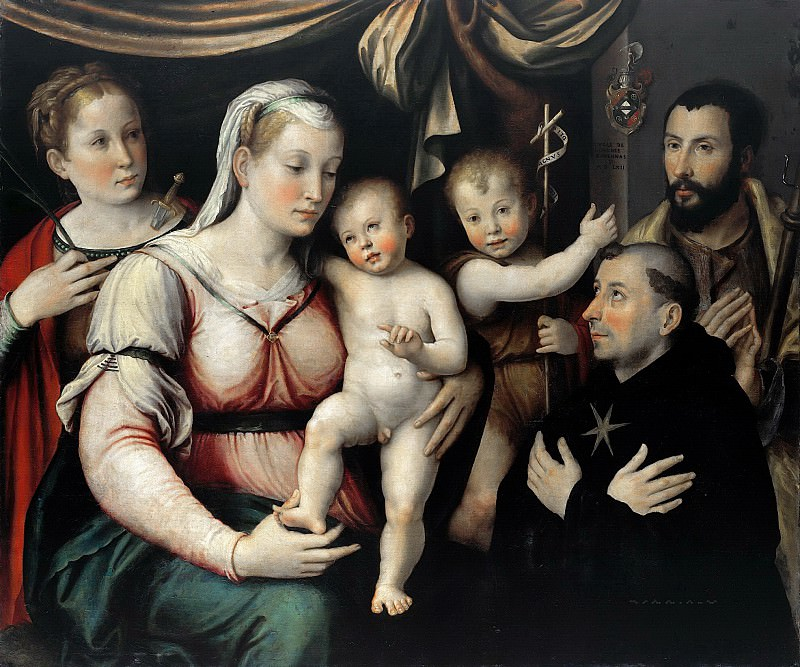 Luca Longhi (1507-1580) - Mary with the Child, John the Baptist and the Saint Lucia, Rocco and NikolausTolentino. Part 3