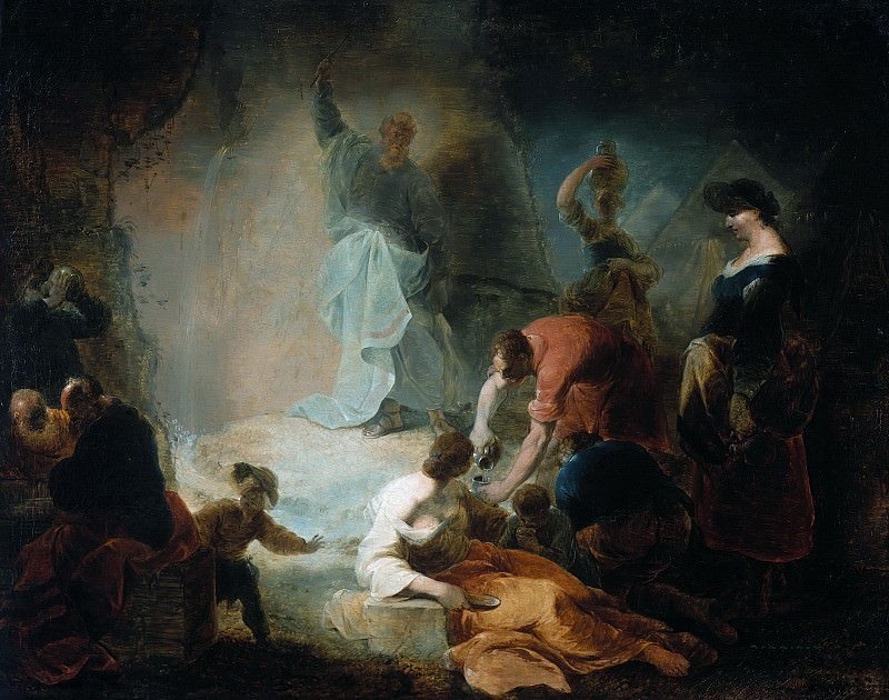 Januarius Zick (1730-1797) - Moses Striking Water from a rock. Part 3