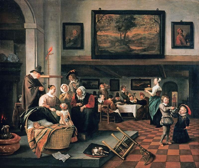 Стен, Ян (1626-1679) - Крестины. Часть 3