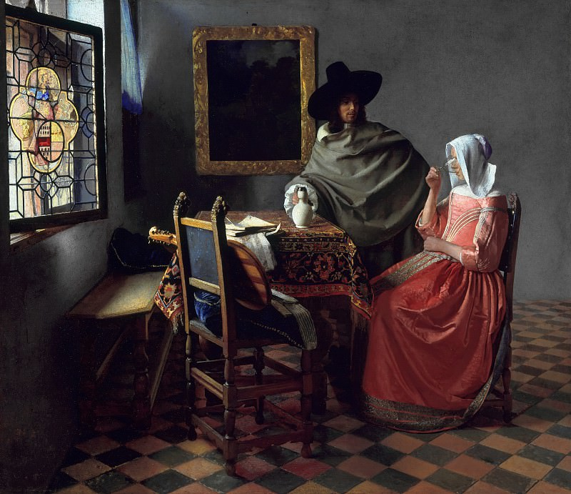 The Glass of Wine. Johannes Vermeer