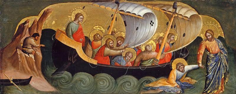 Лоренцо Венециано (до1336-п1378) - Пределла алтаря со сценами из жизни апостолов Петра и Павла - Христос приглашает Петра идти по воде. Часть 3