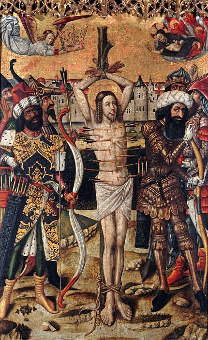Juan Rexach (before1431-after1483) - The Martyrdom of St. Sebastian. Part 3