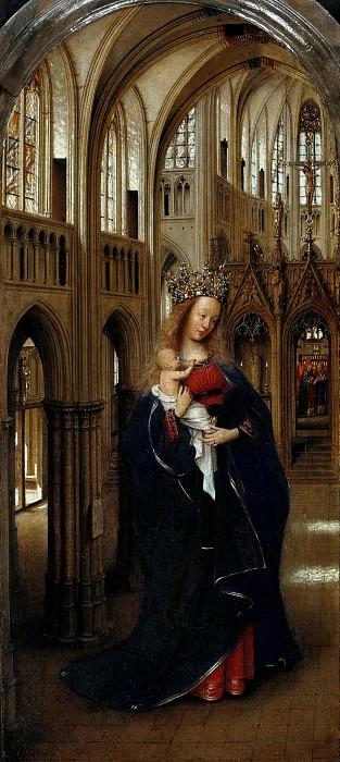 Jan van Eyck (c.1390-1441) - Madonna in the Church. Part 3