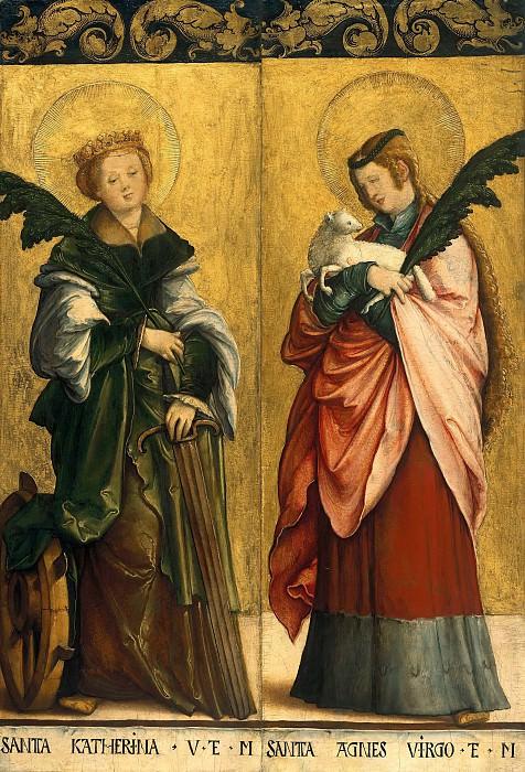 Мастер из Месскирха (ок1500-ок1572) - Святые Екатерина и Агнесса. Часть 3
