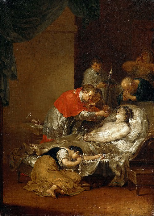 Januarius Zick (1730-1797) - The St. Borromeo reaches a plague the Lords Supper. Part 3