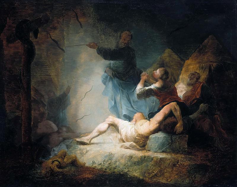 Цик, Януариус (1730-1797) - Моисей и медный змий. Часть 3