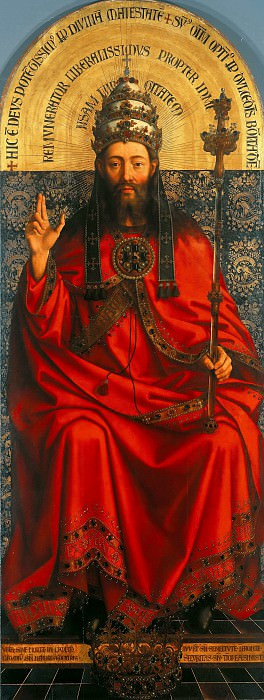 Michiel Coxie (c.1497-1592) - God the Father on the throne. Part 3