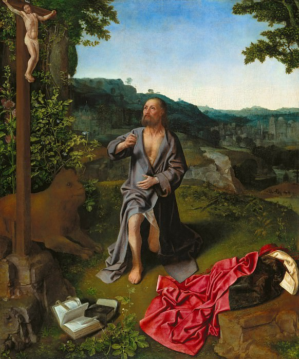 Master of Saint Giles - The Penitent St. Jerome. Part 3