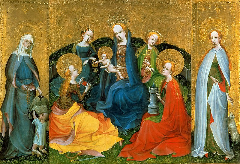 Kolner Meister - Triptych with Mary in a circle Holy Women. Part 3