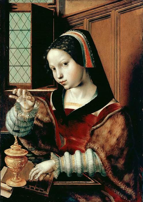 Jan Sanders van Hemessen (c.1500-c.1566) - Woman Weighing Coins. Part 3