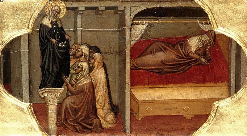 Martino di Bartolomeo - The Saint Bridget appears a Swedish princess in dream. Part 3
