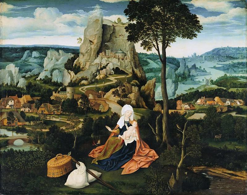 Joachim Patenier (c.1485-1524) - The Rest on the Flight to Egypt. Part 3