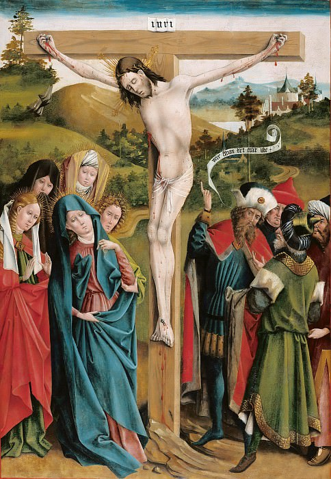 Johann Koerbecke (c.1420-1490) - Crucifixion. Part 3