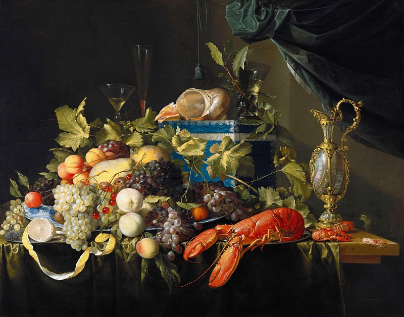 Jan Davidsz. de Heem (1606-1683-84) - Still Life with Fruit and Lobster. Part 3