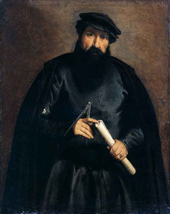 Lorenzo Lotto (c.1480-1557) - Portrait of an architect. Part 3