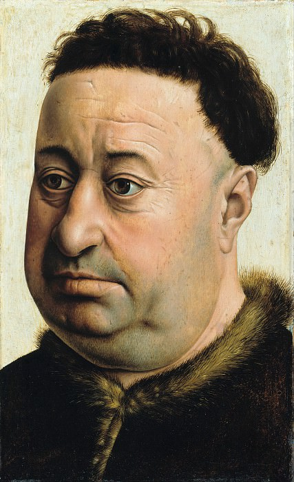 Robert Campin (c.1375-1444) - Portrait of a Fat Man. Part 3