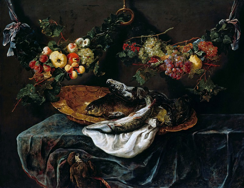 Jan Fyt (1611-1661) - Still life with fish and fruit. Part 3